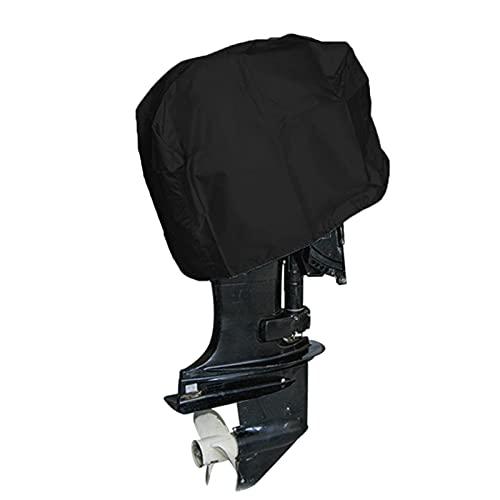 Ksruee Tapa de Motor Externa con Tejido de Tela Oxford 210D, Cubierta de Motor de Motor Externo Cubierta de Barco Impermeable Compatible para Motores de 5-20HP