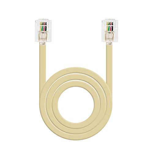 NANOCABLE 10.32.0103-OEM - Cable de telefono RJ11, 6P4C, M-M, Macho-Macho, Beige, 3mts