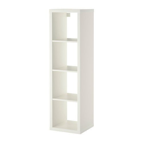 2 estantes Xikea Kallax en color blanco; (42 x 147 cm); compatible con Expedit.