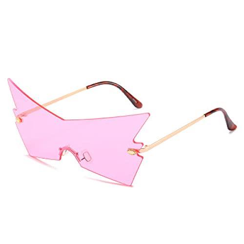 Powzz ornament Nuevas gafas de sol sin marcaras Marea femenina fiesta de halloween Personalidad divertida Gafas de sol Mujer-r
