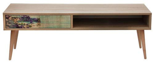 Homemania Mobile Porta TV Fresh, Bois, Chêne-Multicolore, 130x36x47 cm