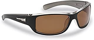 Flying Fisherman 7831BA Helm Polarized Sunglasses, Unisex-Adult, Black-Crystal Gunmetal Frames/Amber Lenses, Medium