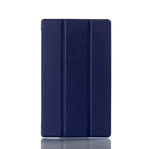 QiuKui Tab Funda para Sony Xperia Z3 Compact 8, Slim PU Cuero DE CUERA Smart STORT Stand FLOTING Tablet Funda para Sony Z3 Compact (Color : Azul Oscuro)
