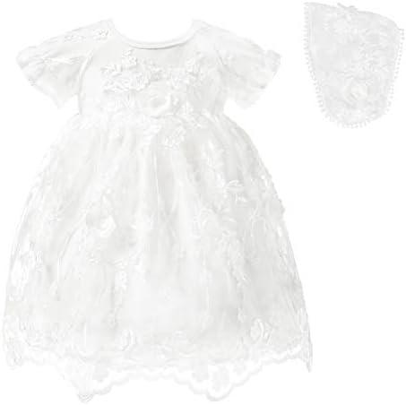 Princess Daliana Infant Baby Girl Baptism Dress Black White Cotton Flower Tutu Dress for Christening product image