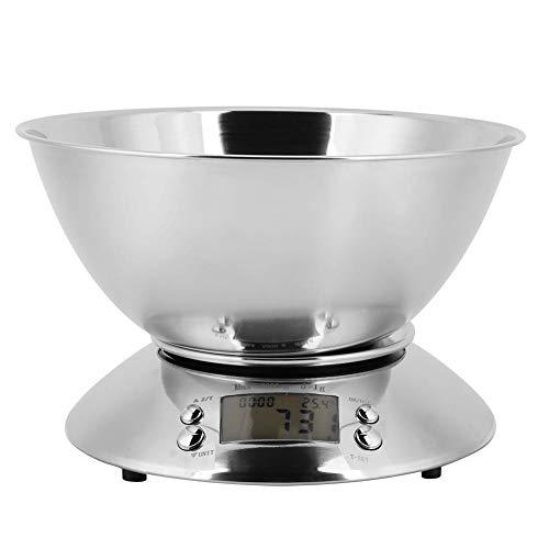 Bilancia da cucina digitale elettronica in acciaio inossidabile con bilance rimovibili per alimenti Bilance per carne Misure in grammi e once