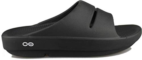 OOFOS Unisex Ooahh Slide Sandal,Black,9 B(M) US Women / 7 D(M) US Men