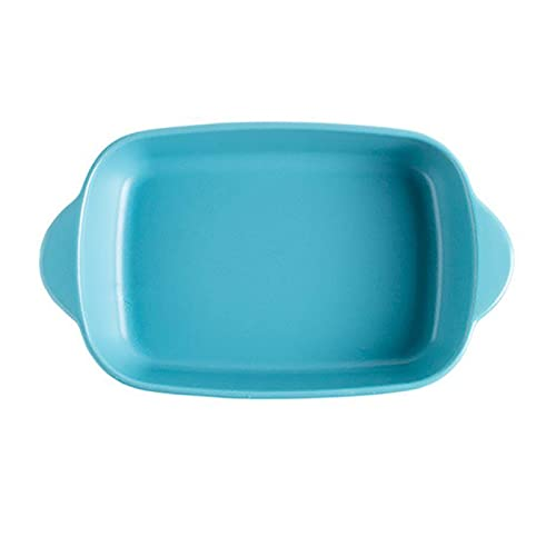 1 Piece Nordic Bakeware Binaural Baked Rice Bowl Baking Sheets Nonstick Oven Nonstick 9.5 Inches Blue