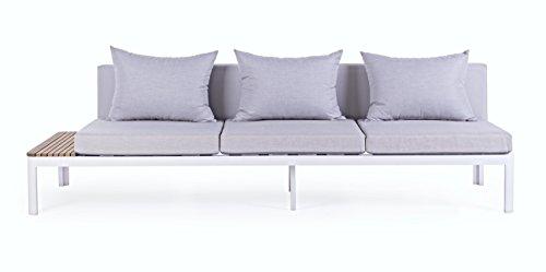 BIZZOTTO Sofa 3-Sitzer Kemen, weiß/Taupe