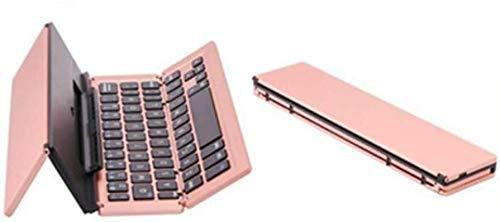 Teclado para juegos Elegante teclado Bluetooth portátil y plegable de aleación de aluminio plegable Compatible con diseño plegable múltiple Teclado Sistemas de tres Adecuado for Mobil mejor regalo de