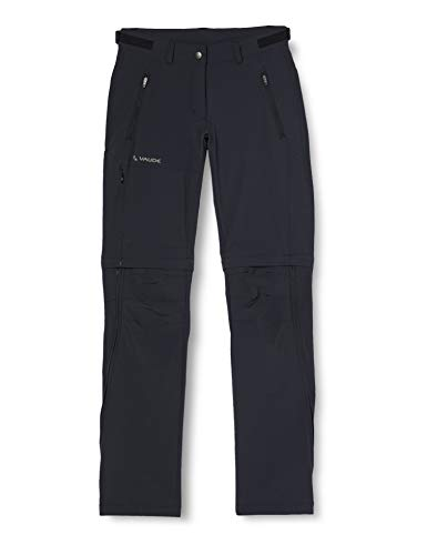 VAUDE Damen Hose Women's Farley Stretch ZO T-Zip Pants, Black, 36, 401440104360