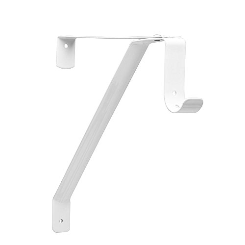Knape & Vogt Vogt Rp-0043-Wt Adjustable Shelf and Rod Bracket, White