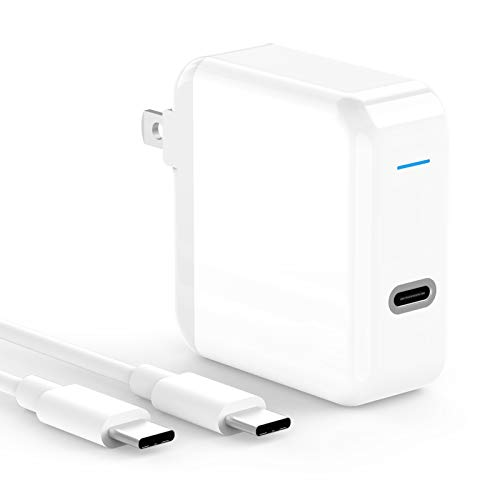 USB C Charger Compatible with iPad Pro 12.9, 11 inch, MacBook Air 13 inch 2020/2019/2018, 12 inch, Pro 13 inch, 45W USBC Power Adapter, Thunderbolt 3 Laptop Power Supply, 6.6ft USB C to C Cable