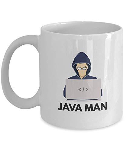 Queen54ferna Regalos para Programadores Java: Java Man - Java, Programmer, Code, SQL, Base de Datos, Java Man - Taza blanca de 11 oz