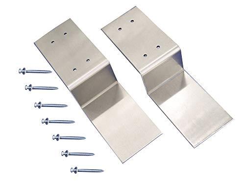 """Drop Open Bar Security Door Lock Bracket Brackets Fits 2x4 Boards 2 x 4 Lumber 2.4"""" Wide (1 Pair 2 Pieces with Screw)"""