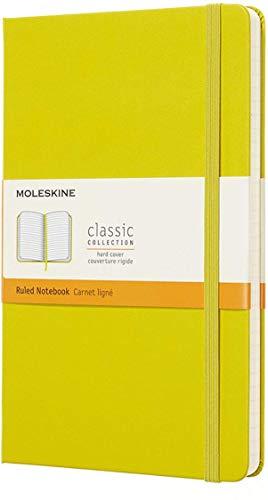 Moleskine Notebook Classic- Copertina Rigida - Taccuino a Pagine Rigate, Large, Giallo (Dente di Leone)
