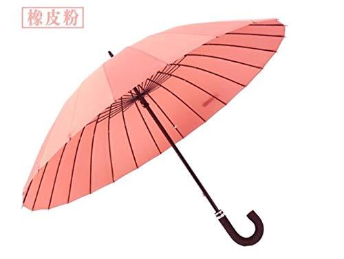 IDJ Regenschirm für Herren, groß, winddicht, Glasfaser-Rahmen, langer Griff, Regenschirm für Damen hellrosa