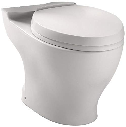 Toto CT412F.10No.01 Aquia Dual Flush Elongated Toilet Bowl with 10 Inch Rough-In, Cotton