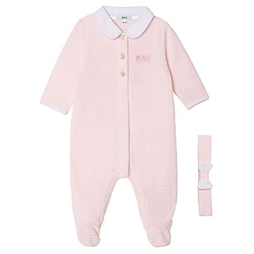 Pijama + diadema BOSS BEBE pañal Baby PINK 9 meses