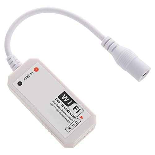 Haudang LED WiFi Remote Controller Kompatibel mit Alexa/Home Voice Control für 5050/3528 RGB-LED-Streifenlichter ?Ndern/Dimmen/Timer / - IOS/Android APP-Steuerung