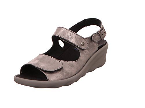 Wolky Comfort Sandalen Scala - 10200 grau/Silber Nubukleder - 41