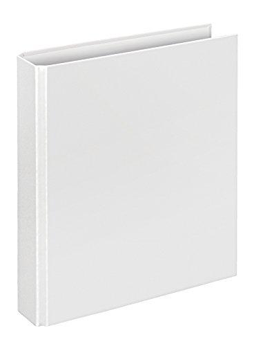 Veloflex 1153090 Ringordner Basic, Ringbuch, Ordner, DIN A5, 4-Ring-Mechanik, 196 x 230 x 30, Karton, weiß