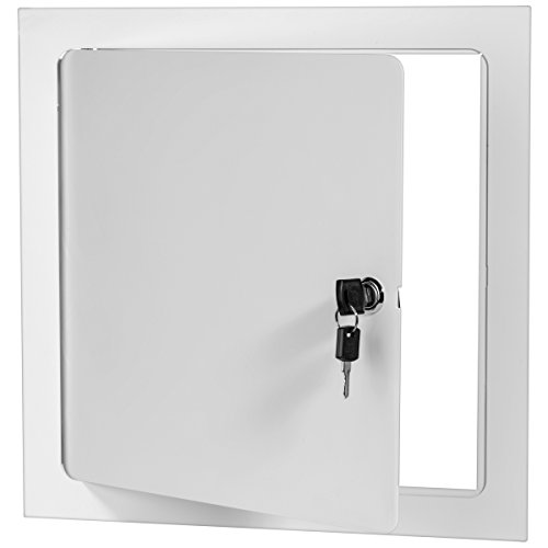 Premier 5000 Series Commercial Grade Steel Access Door, 24 x 24 Flush Universal Mount, White (Keyed Cylinder Latch)