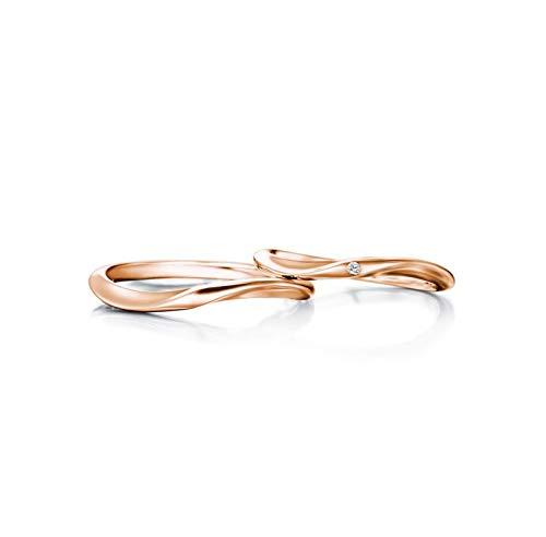 KnBoB Ringe Zur Verlobung Verdrehte Runde Poliert Diamant 0.01ct 18K Gold Ringe Größe Damen 49 (15.6) & Herren 61 (19.4)