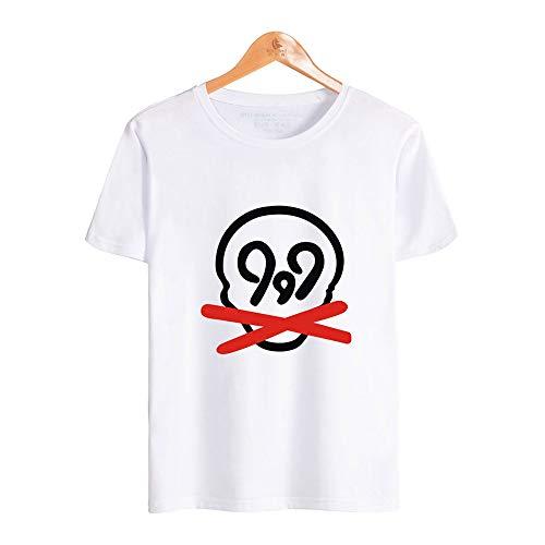 SHINEE Herren Juice Wrld Shirt 3D Digital Bedrucktes Kurzarm-T-Shirt,Weiß,XXL