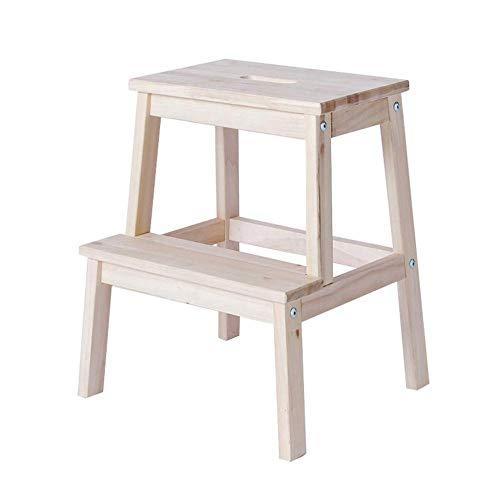 yjll Hout 2 Stap Kruk Voor Volwassenen En Kinderen Indoor Keuken Houten Ladders Kleine Voet Krukken Draagbare Schoenbank/Bloemenrek