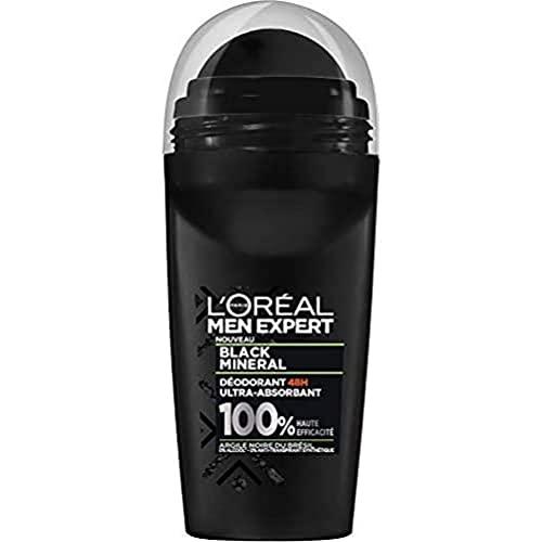 L'Oréal Men Expert Black Mineral Déodorant Bille 48H Ultra Absorbant Homme 50 ml