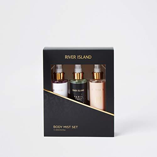 River Island Ladies Body Mist Trio, Black, Milan, Paris and Paris by Night,...