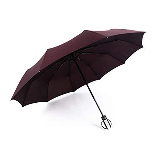 JJYGONG Paraguas Automático Plegable Sol Paraguas Grande Reforzada Reforzada Y Protección Solar Y Protección Uv Espesada Paraguas Plegable/Purple