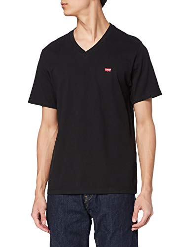 Levi's Herren Orig Hm Vneck T-Shirt, Black (Mineral Black 0001), Large