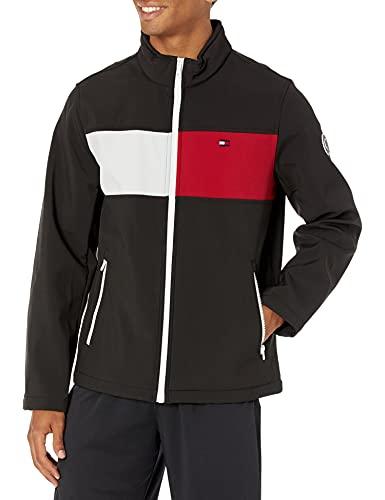 Tommy Hilfiger Men's Active Soft Shell Jacket, black/two tone flag, Medium