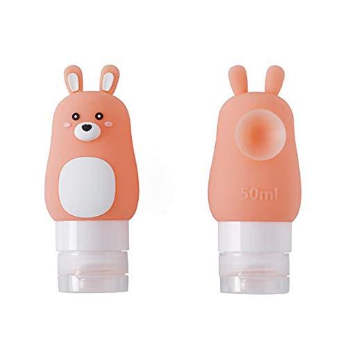 ACHICOO 1 STÜCK Nette Reise Squeeze Leere Silikonflasche für Make-Up Shampoo Duschgel Lagerung 50 ml rosa Kaninchen
