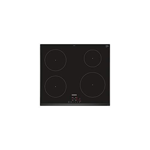Siemens iQ100 EU651BEB1E plaque Intégré Plaque avec zone à induction Noir - Plaques (Intégré, Plaque avec zone à induction, Noir, 1400 W, Rond, 14,5 cm)