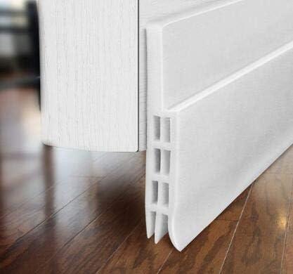 Nicoone Under Door Draught Excluder,Weather Stripping Soundproof Self Adhesive Door Sweep for Doors 101cm x 4.8cm,Brown