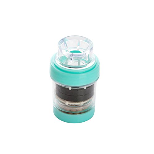 OUNONA Grifo de carga frontal magnético/filtro de agua, purificador de aire para cocina (verde)