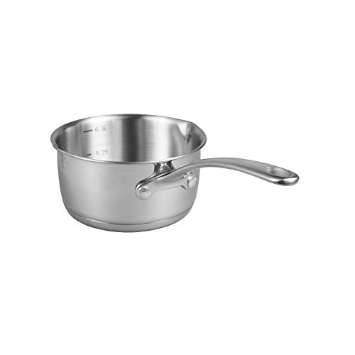 Product Image 1: IMEEA 1/2-Quart Saucepan Butter Warmer 18/10 Tri-Ply Stainless Steel Butter Melting Pot with Dual Pour Spouts