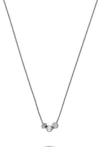 JETTE Silver Damen-Kette Cuddle 925er Silber 89 Zirkonia One Size Silber 32010638