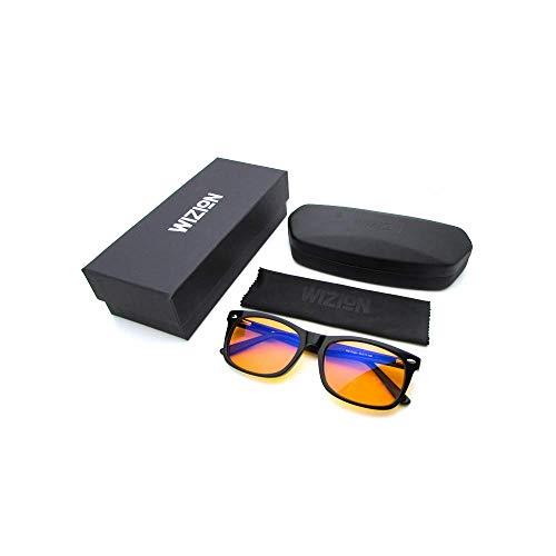 ► Wizion.de Blaulichtfilterbrille - Für einen erholsameren Schlaf - Höchste Qualität | Äußerst stabil | Besonders langlebig