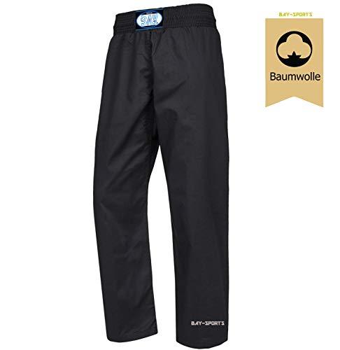 BAY® Krav MAGA BW Israel Hose Baumwolle schwarz (190 - XL)
