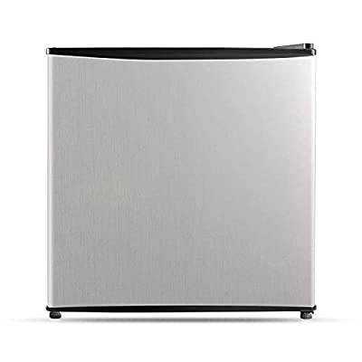 Midea WHS-65LSS1, 1.6 Cu. Ft. Compact Refrigerator, Stainless Steel