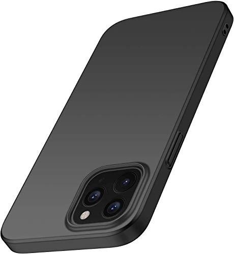 Capa Capinha Protetora Para Iphone 12 e 12 Pro Tela De 6.1 Polegadas Case Acrílica Fosca Ultra Fina, Luxuosa Premium Qualidade TOP - Danet (Preta)