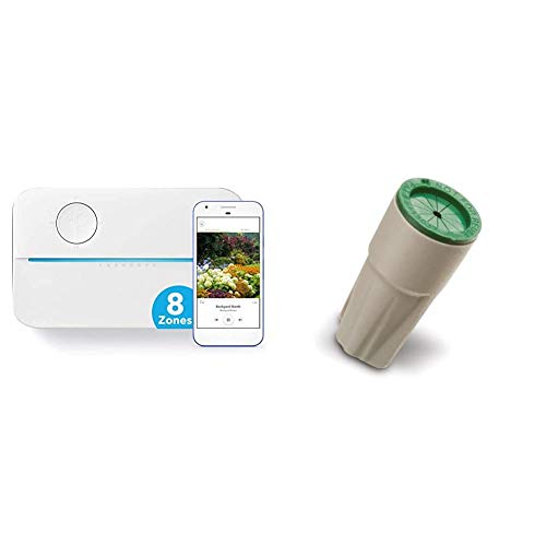Rachio 3 Smart Sprinkler Controller, 8 Zone 3rd Generation, Alexa and Apple HomeKit & Rain Bird WPCONN10 Waterproof Grease Cap Wire Connectors, 10-Pack, Pack of 10