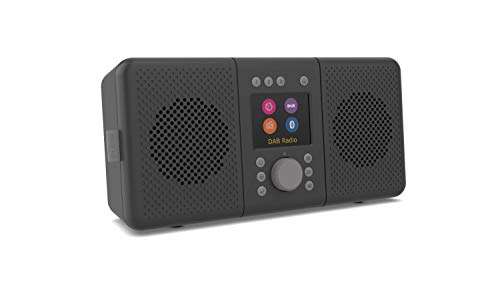 ELAN CONNECT+ All-In-One Stereo Internetradio mit DAB und Bluetooth 5.0 (DAB/DAB+ & UKW-Radio, Internetradio, TFT Display, 20 Senderspeicher, Musikstreaming, Podcasts), Charcoal