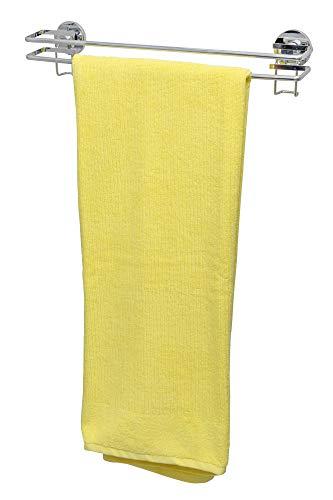 WENKO Handtuchstange – Edler Handtuchhalter aus rostfreiem Edelstahl – Towel Rail mit Express-Loc Befestigungssystem zum Kleben