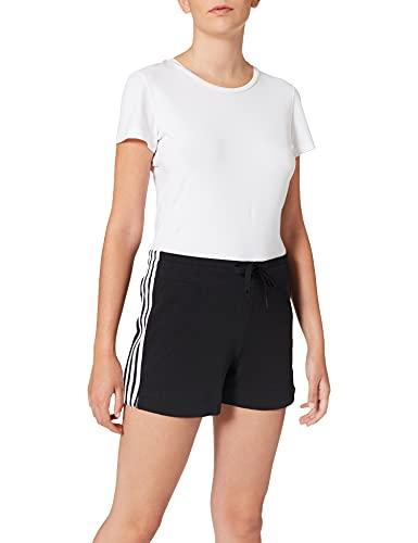 adidas Essentials 3s Short, Shorts Donna, Black/White, S 40-42