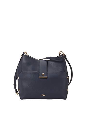 s.Oliver (Bags Damen 39.904.94.2054 Henkeltasche, Blau (Night Sky), 13x26x36 cm