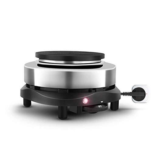 XIUYU Mini-Elektro-Brenner, Gusseisen elektrische Kochplatte, 5W tragbarer Elektroherd mit Temperaturregelung, rutschfesten Füße, 500W, Tee und Kaffee Nudeln